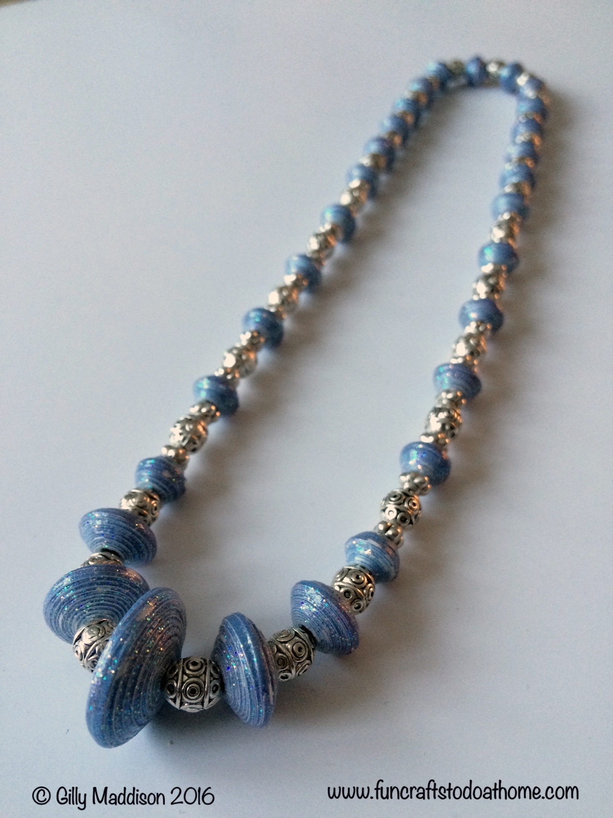 Paper Bead Finished necklace