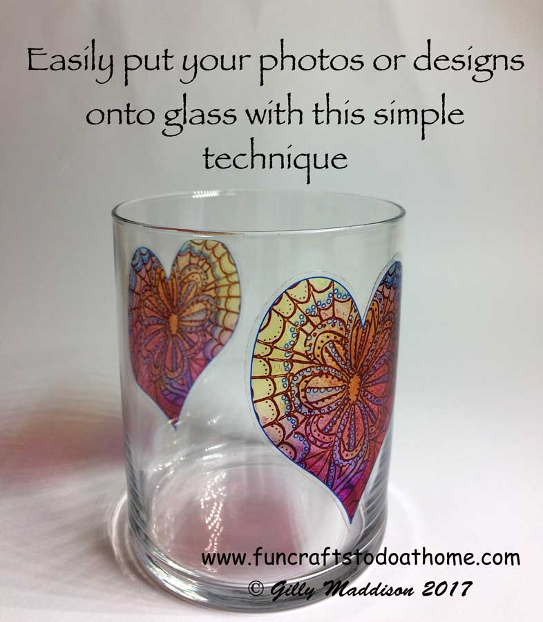 how to transfer an image to glass fun crafts to do at home