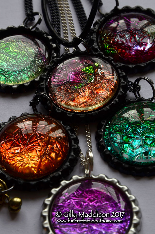 How to make faux dichroic glass pendants with alcohol inks fun how to make faux dichroic glass pendants with alcohol inks aloadofball Choice Image