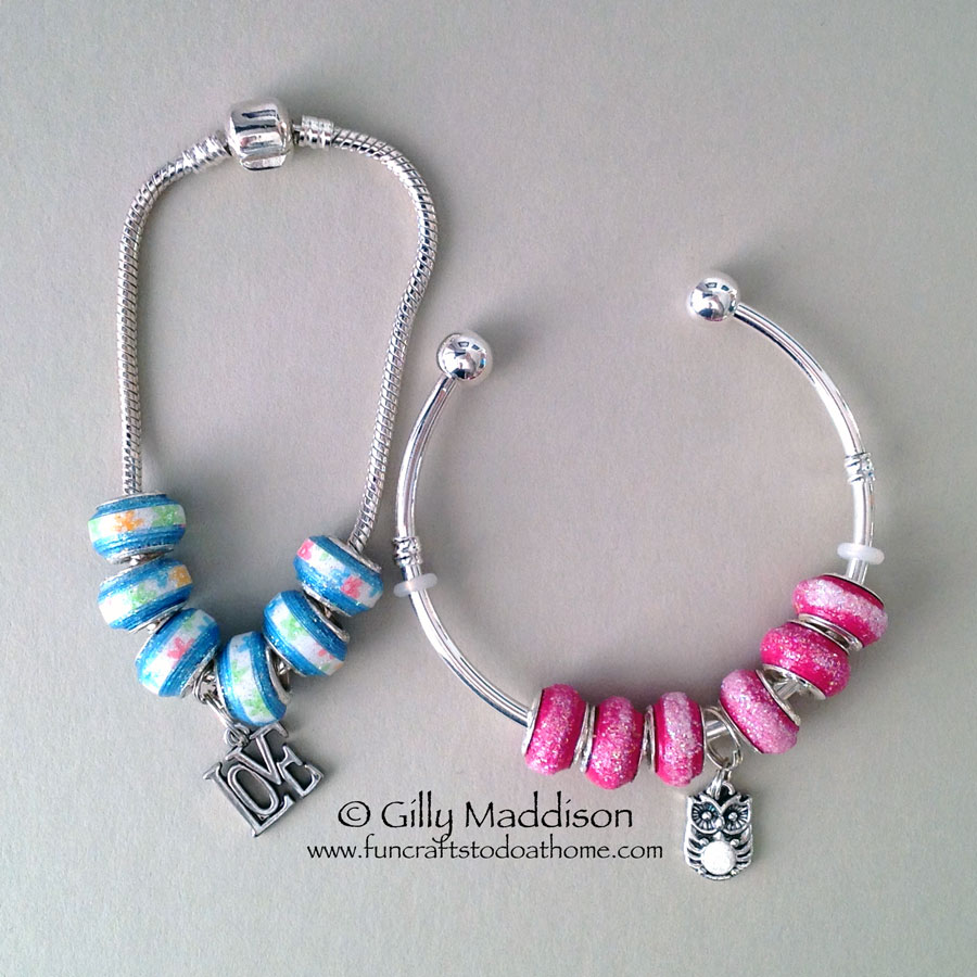 How To Finish your European Style Beads With Paper Bead Cores ...